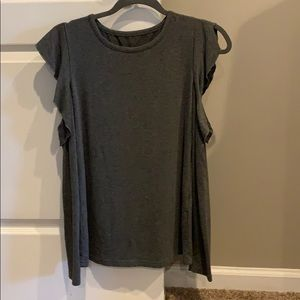 Shein cold shoulder long sleeve top XS
